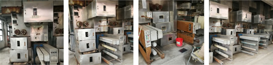 Used multifilament spinning lines and related machines for sale