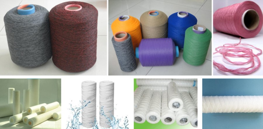Polypropylene melt blown water filter cartridge yarn making machine