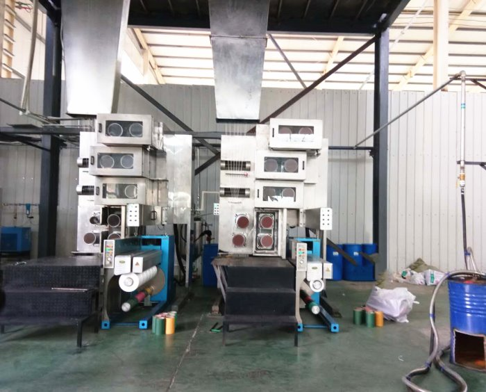 Polypropylene CF multifilament yarn spinning extruding line