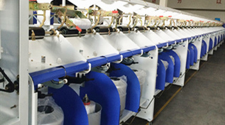 Warmly celebrate delivered two yarn twisting machines to Kazakhstan