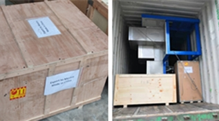 Warmly celebrate delivered two FDY Yarn spinning machines to Mexico !