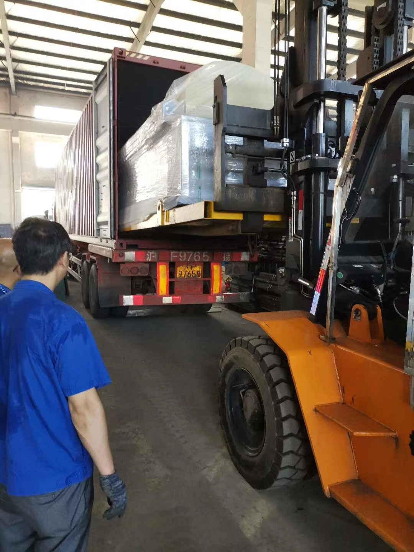 Russian customer warping machine delivery